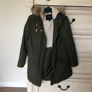 American Eagle Sherpa-lined Parka